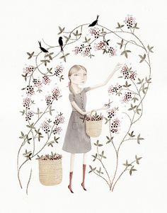 Blackberry Patch by Julianna Swaney, via Flickr  This reminds me of stories from my mother's childhood.