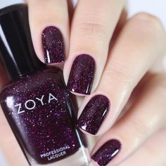 "1,859 Likes, 25 Comments - Zoya Nail Polish (@zoyanailpolish) on Instagram: ""#ZoyaPayton is a pretty popular purple! Say that 3 times fast! Shown on @vellinails ✨…"""