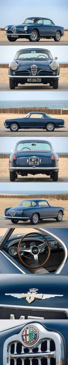 1957 Alfa Romeo 1900 Super Sprint / Touring / Italy / blue / 17-395 Maserati, Ferrari, Alfa Romeo Cars, Classic Italian, Car And Driver, Sexy Cars, Ford Trucks, Cars And Motorcycles, Touring