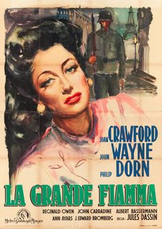 """A 1949 Italian poster for the MGM movie """"Reunion in France,"""" the first post-war release."""