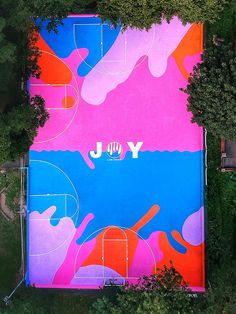 The UKs first giant basketball art court presses play on social connectivity - News - Frameweb Parions Sport, Basketball Art, Basketball Videos, Basketball Posters, Basketball Birthday, Basketball Quotes, Best Seasons, Mural Art, How To Do Yoga