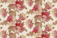 nick's peony vintage fabric by giardino on Spoonflower - custom fabric