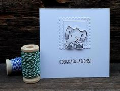 Eline's cute animals. Kids Cards, Baby Cards, Marianne Design, Stamping Up, Animal Kingdom, Congratulations, Cute Animals, Place Card Holders, Van