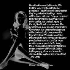Borderline Personality Disorder | Quote Addicts