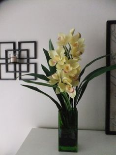 26 Silk Real Touch Yellow Dendrobium Orchid by FineOrchidCreations