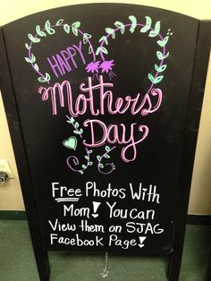 Mothers Day Blackboard art