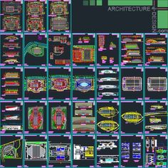 Sport complex : Swimming pool architecture design (Autocad drawings) collection | Architecture for Design
