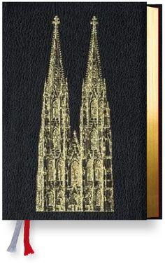 schwarzes Leder Gotteslob mit Domprägung für das Bistum Köln