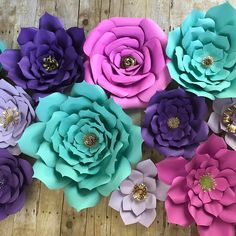 """18 Likes, 1 Comments - Patricia Paper Flowers (@patriciapaperflowers) on Instagram: """"Turquoise, purple, lilac and pink. I love this colors #backdrops #paperflowers #events…"""""""