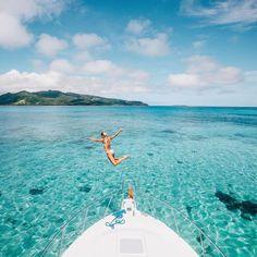 "Lauren Bullen on Instagram: ""Jumping into Paradise /tourismfiji/ #FijiNow Photo blog now up.. ✨"""