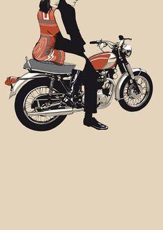 Triumph Motorbike Prints by Raid71