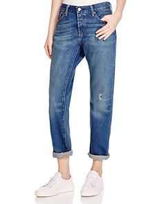 Levi's 501 CT Boyfriend Jeans in Medium Blue