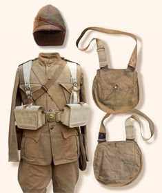 British Infantry Sudan, 1899 pattern other ranks khaki frock with Slade Wallace equipment.