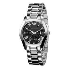 NEW Emporio Armani Women Luxury Watch AR0674 Silver Chronograph Stainless Steel #EmporioArmani #Casual
