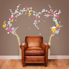 The Decal Guru Spring Blossoms Nursery Wall Decal Size: