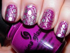 China Glaze Flying Dragon-stamped with silver.