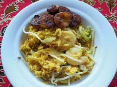 Masoesa alesi met gedroogde garnalen en bakkeljauw