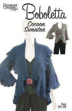 Maggie's Crochet · Boboletta Cocoon Sweater Pattern
