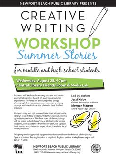 summer creative writing workshops for college students