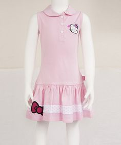 Loving this Hello Kitty Pink Sleeveless Polo Golf Dress on #zulily! #zulilyfinds