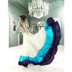 White Georgtte Salwar Suit