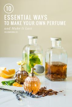 10 ESSENTIAL: Ways to Make Your Own Perfume (and Make It Last) | http://hellonatural.co/10-essential-ways-make-perfume-make-last/