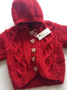 Baby Cable Knit Two Piece Set by BunnieKnitwear on Etsy