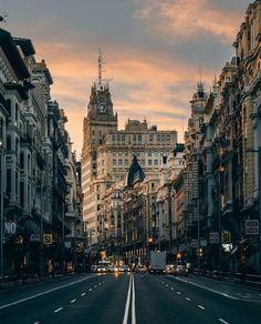 Gran Via evenings Madrid Spain Photo by @alaccou ...