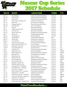 9 Best Nascar Racing Schedules Images Nascar Racing Schedule