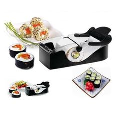 Sushi Roller Cutter Machine Kitchen Gadgets Magic Maker Perfect Roll DIY Tool #Unbranded