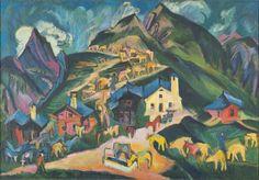Ernst Ludwig Kirchner - Alpaufzug (1919)