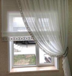 На данном изображении может находиться: в помещении Window Dressings, Roman Shades, Drapery, Provence, Window Treatments, Windows, Doors, Interior, Beautiful