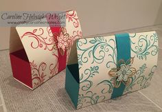 Falling Flowers Large Gift Bag with Magnetic Closure - Video tutorial using Stampin' Up products.         I've decided to take a break fro...