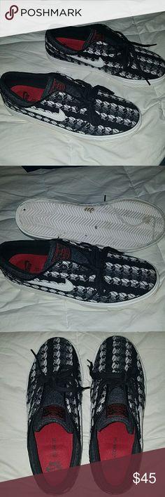 Nike Sb Janoski size 9 Size 9 Nike Sb Janoski. Black/grey/white. Worn a handful of times, plenty of life left. Offers are welcome. Nike Shoes Sneakers