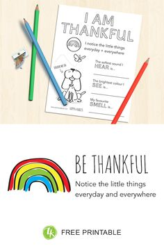 How to introduce kids to the happy habit of Being Thankful Feeling Thankful, Interesting Conversation, Openness, Activity Sheets, Contentment, Optimism, Blank Cards, Little Things, Teaching Kids