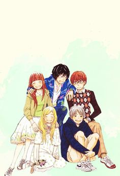 """"""" favorite friendships: the honey and clover gang """" Honey And Clover, Anime, Fictional Characters, Art, Art Background, Kunst, Cartoon Movies, Anime Music, Performing Arts"""