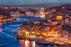 PORTUGAL, Nightfall in Porto by ill-padrino www.matthiashaker.com, via Flickr