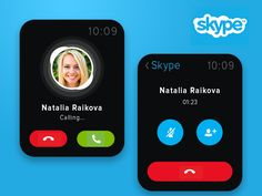 Skype iWatch Concept by Valik Boyev for Heyllow