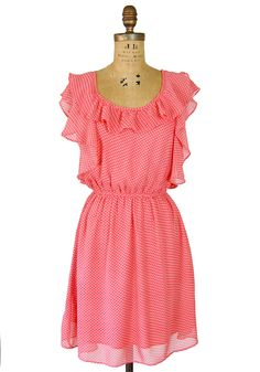 Niceties of Nashville Dress: Coral - $42.99 >> What a sweet dress!