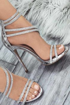 33 silver heels for prom: style inspiration, tips and trends 2019 - women shoes . - 33 silver heels for prom: style inspiration, tips and trends 2019 – women shoes fashion – 33 S - Prom Shoes Silver, Silver High Heels, Silver Formal Shoes, Silver Sandal Heels, Black Prom Shoes, Silver Heels Wedding, Silver Rhinestone Heels, Silver Sparkly Heels, Wedding High Heels