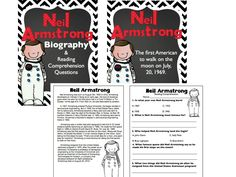 The students will learn about Neil Armstrong and his major contributions to space exploration. This will be important to further the information the students have about astronauts. Library Activities, Reading Activities, Reading Skills, Neil Armstrong Biography, 4th Grade Social Studies, Reading Comprehension Worksheets, Reading Street, Teaching, Moon Landing
