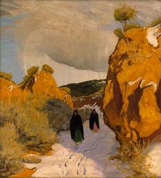 'Winter in New Mexico', by Walter Ufer.  (1876-1936) http://www.artexpertswebsite.com/pages/artists/ufer.php