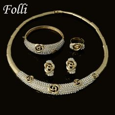 Find More Jewelry Sets Information about Fashion Dubai Gold Plated Jewelry Sets Brand Classic Desig  Nigeria Wedding African Beads Jewelry Sets Crystal White,High Quality beaded tee,China bead jewelry patterns free Suppliers, Cheap bead embroidered jewelry from Folli Jewelry on Aliexpress.com