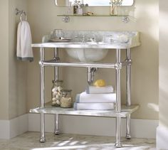 "Apothecary Single Sink Console | Pottery Barn  36"" wide x 22"" deep x 40"" high   $1899"