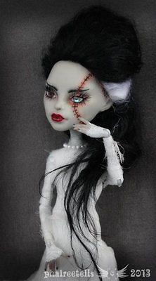 OOAK Monster High Repaint Custom Frankenstein Bride Fairy Tales Phaireetells