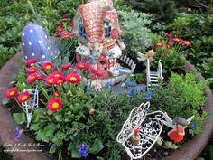 Make a Fairy Garden from an old fire pit! (Garden of Len & Barb Rosen)