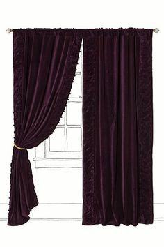 Luscious and regal velvet curtains - a great winter upgrade for a romantic bedroom! Parlor Curtain - Anthropologie.com