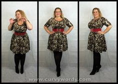 My review of the Scarlett & Jo Animal Print Fit and Flare Dress http://www.curvywordy.com/2015/02/evans-scarlett-jo-animal-print-fit-and.html @copperfashion