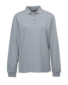 ce0fd604bfa Womens Cotton Polyester Knit Ls Polo Shirt. Tri mountain 611  polyester   poloShirt  cotton  Womenswear  Women  stylish