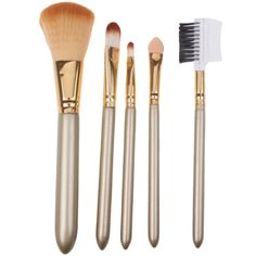 [$2.22] 5pcs Beauty Professional Make-up Brushes Travel Cosmetic Brushes Set